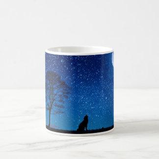 Der Wolf und das volle mooon Kaffeetasse