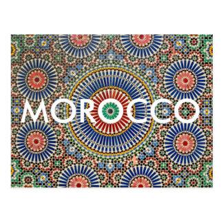 des arabischen religiöses Muster Mosaik-Islams Postkarte