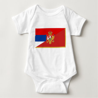 des Flaggen-Landes Serbiens Montenegro halbes Baby Strampler