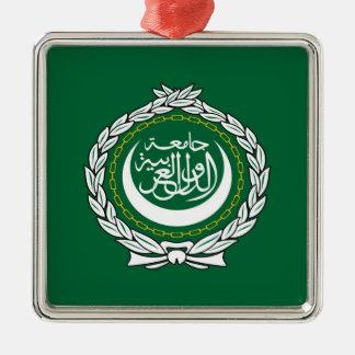 Des Flaggensymbols der arabischen Liga islamische Silbernes Ornament
