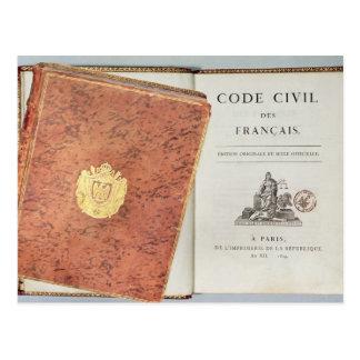 DES Francais Le Code Civil Postkarte