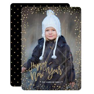 Des glücklichen neuen Jahr-  des Gold  Foto-Karte Karte