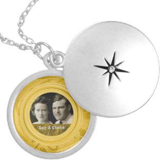 Des Gold50. Foto-Andenken Hochzeits-Jahrestags-  Runde Medaillon Halskette