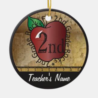 Des Lehrers Tafel die Vintage Art-2. des Grad-| Rundes Keramik Ornament