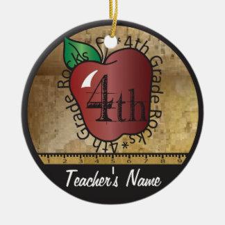 Des Lehrers Tafel die Vintage Art-4. des Grad-| Rundes Keramik Ornament