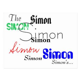 Des SIMONS… Postkarte