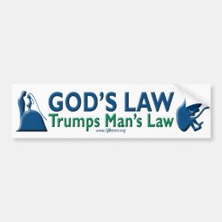 Des Trumpf-Mannes des Gottes Gesetzesdas gesetz Autoaufkleber