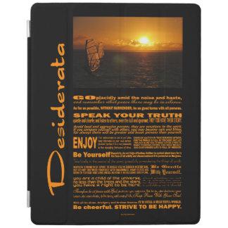Desiderata-Gedicht-Abend Windsurfing iPad Hülle