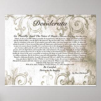 DESIDERATA vorsichtiger Vampirs-Wasserzeichen-Entw Poster