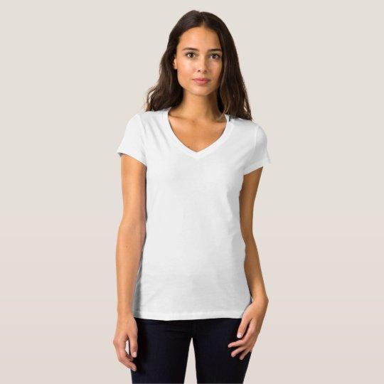 Bella+Canvas Jersey T-Shirt mit V-Ausschnitt für Frauen