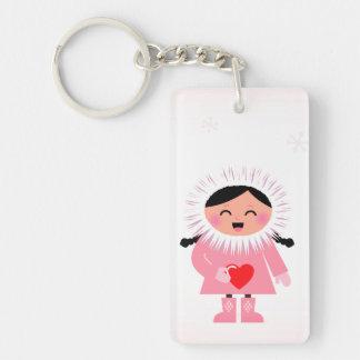 Designer keychain mit Eskimomädchen Schlüsselanhänger