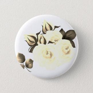 Designerknopf mit Rosen Runder Button 5,1 Cm