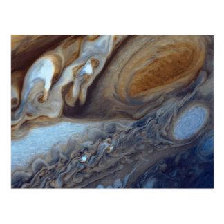 Detail der Jupiter-Atmosphären-großen roten Stelle Postkarte