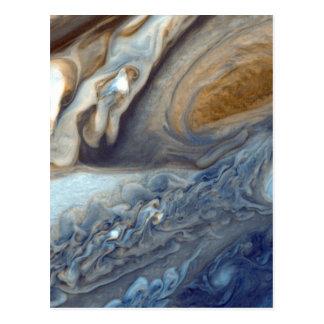 Detail Jupiters der Atmosphären-großen roten Postkarte