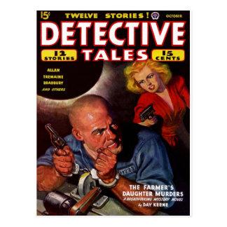 Detektiv-Geschichten - der die Tochter-Mord des Postkarte