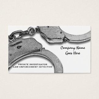 Detektivgesetzesdetektivdurchführung Visitenkarten