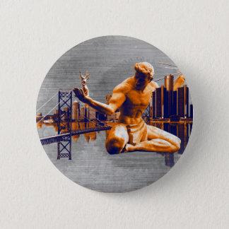 Detroit-Stadt Runder Button 5,1 Cm