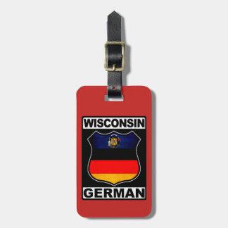 Deutsche amerikanische Gepäckanhänger-Schablone Kofferanhänger