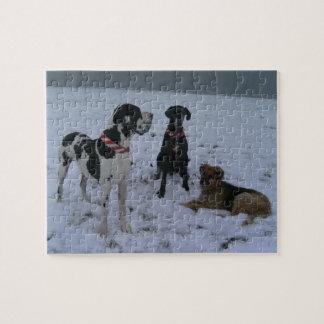 Deutsche Dogge, Great Dane,Hunde,Dogue Allemand Puzzle
