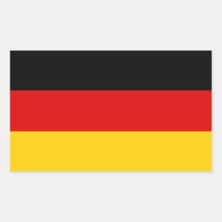 Deutsche Flagge Rechteckiger Aufkleber