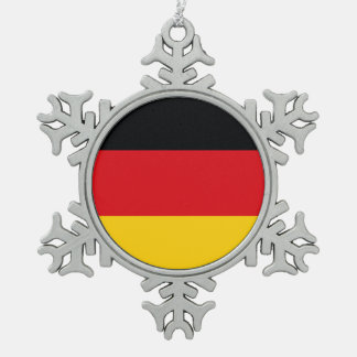 Deutsche Flagge Schneeflocken Zinn-Ornament