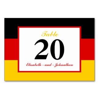 Deutsche Flaggen-Hochzeit