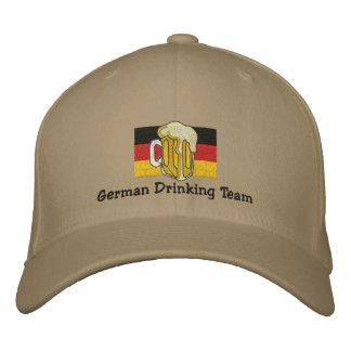 Deutsche trinkende Team gestickte Kappe Bestickte Baseballkappen