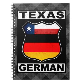 Deutscher amerikanischer Notizblock Texas