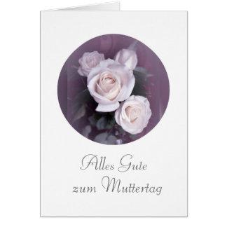 Deutscher: Der Tag der Mutter/Muttertag Grußkarte