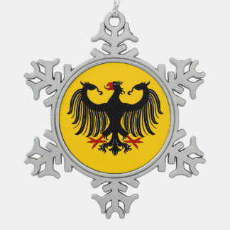 Deutscher Eagle Schneeflocken Zinn-Ornament