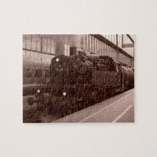 Deutsches Dampf-Motor-Zug-Weihnachtspuzzlespiel Puzzle