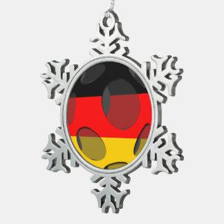 Deutschland #1 schneeflocken Zinn-Ornament