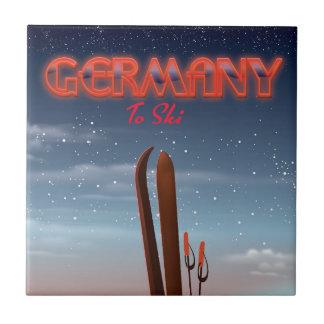 Deutschland-Eis-Skireiseplakat Keramikfliese