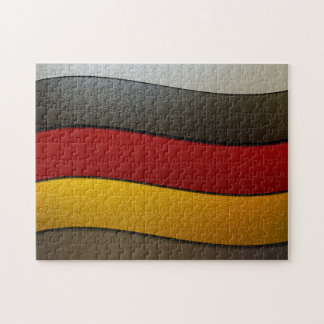 Deutschland-Flagge Farbe-Chrom durch Shirley Puzzle