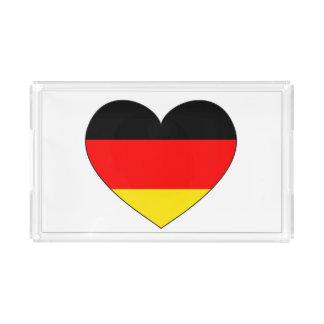 Deutschland-Flaggen-Herz Acryl Tablett