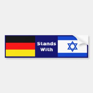 Deutschland steht mit Israel Autoaufkleber