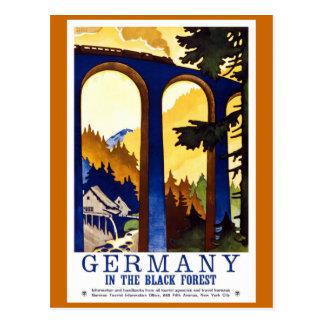 Deutschlands schwarzer WaldVintages Reise-Plakat Postkarte
