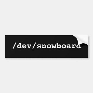 /dev/snowboard autoaufkleber