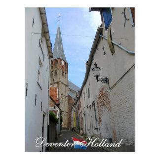 Deventer Straße und Kirchen-Holland-Postkarte Postkarte