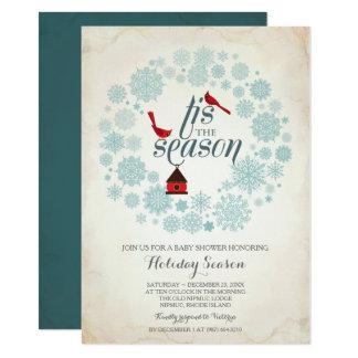 Dezember-Einladung, tis die Jahreszeit Karte