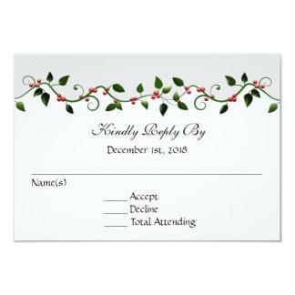 Dezember-Feiertags-Hochzeit UAWG 8,9 X 12,7 Cm Einladungskarte