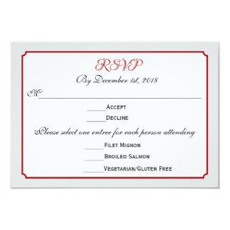 Dezember-Feiertags-Hochzeit UAWG Antwort mit Menü 8,9 X 12,7 Cm Einladungskarte