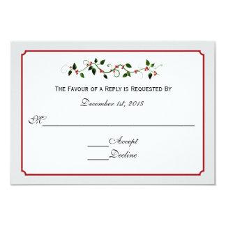 Dezember-Feiertags-Hochzeits-Warte-UAWG 8,9 X 12,7 Cm Einladungskarte