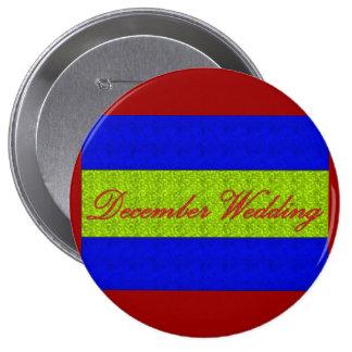 Dezember-Hochzeits- eleganter Knopf Anstecknadelbuttons