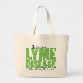 Diagnose der Lyme-Borreliose Leinentasche