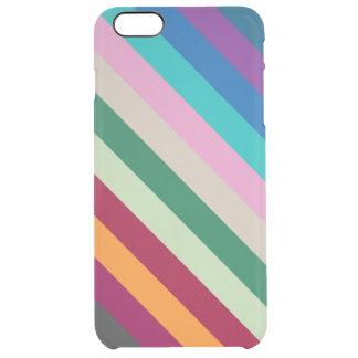 Diagonale Streifen in den Herbstfarben Durchsichtige iPhone 6 Plus Hülle