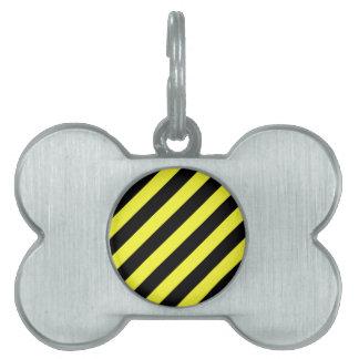 diagonale Streifen Schwarzes und Gelb Tiermarke