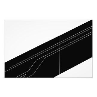 Diagonalen in schwarz und weiß kunstphotos