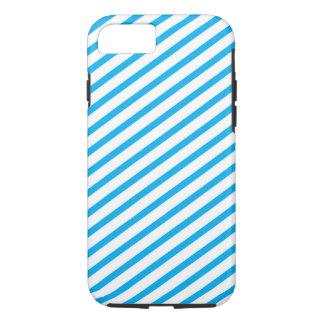 Diagonales Streifen-Blau-Muster iPhone 8/7 Hülle