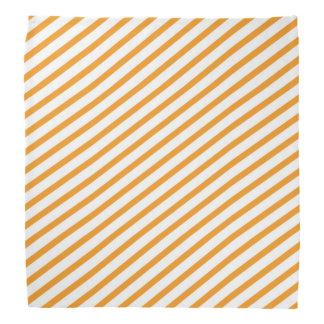 Diagonales Streifen-Orangen-Muster Kopftuch